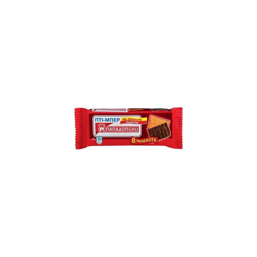 aa91769c278 ΠΑΠΑΔΟΠΟΥΛΟΣ: Πτι Μπερ Παπαδοπούλου με Σοκολάτα Γάλακτος 12 τεμ 89γρ ...